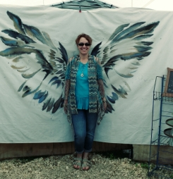 Wings fit Beth real well for putting up with us.