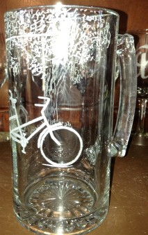 Bicycle for two for Skeeter and Carol Beer Mugs