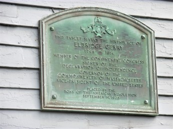 Birthplace of Elbridge Gerry -Signer of Declaration of Independence and who was a vice-president too!
