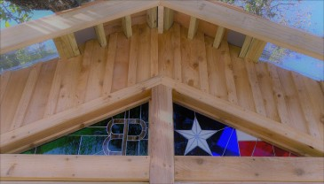 Branded and always Texas Proud Stained-Glass Greenhouse